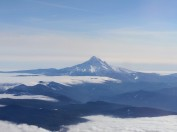 View of Mt. Hood in-flight