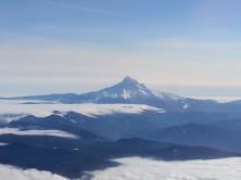 View of Mt. Hood in-flight